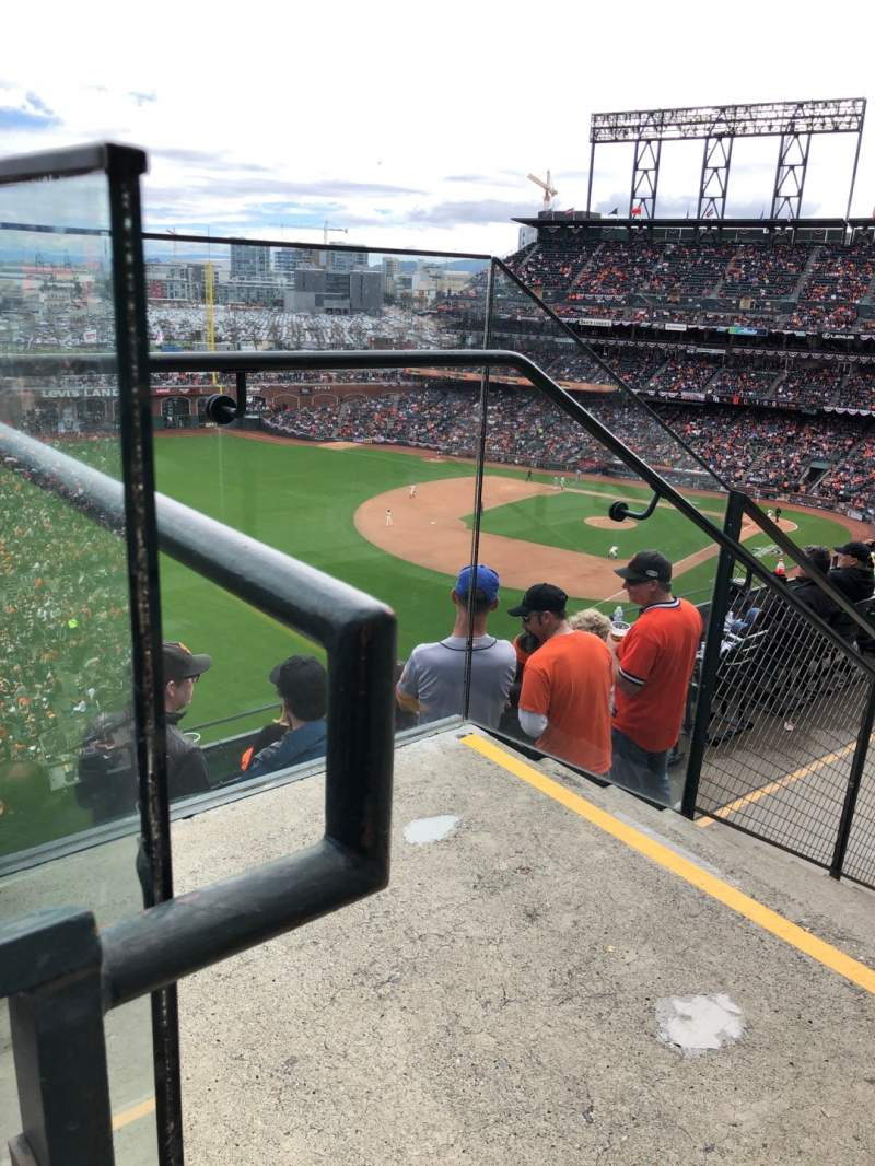 Seating view for Oracle Park Section VR332 Row 1 Seat 1