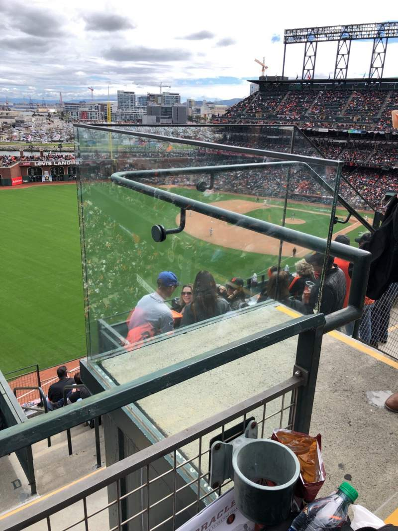 Seating view for Oracle Park Section 332 Row 1 Seat 2
