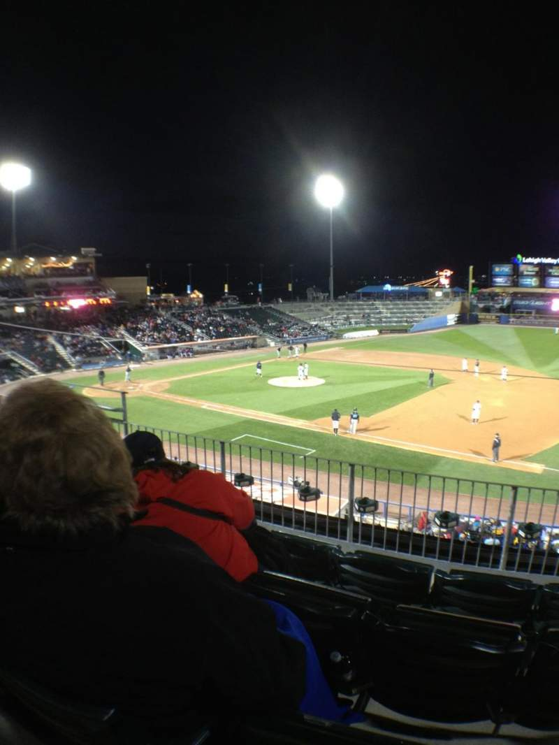 Seating view for Coca-Cola Park Section 201 Row D Seat 8