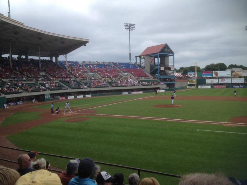 Seating view for McCoy Stadium Section 2 Row F Seat 4