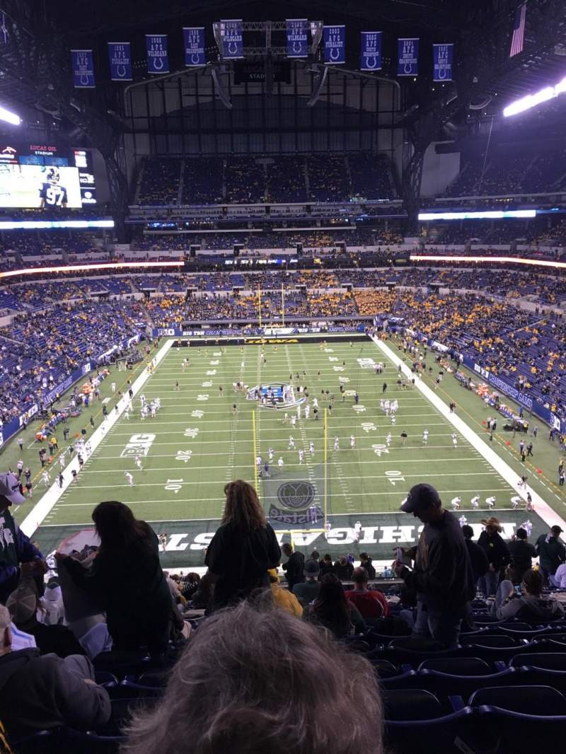 Seating view for Lucas Oil Stadium Section 453 Row 16 Seat 16