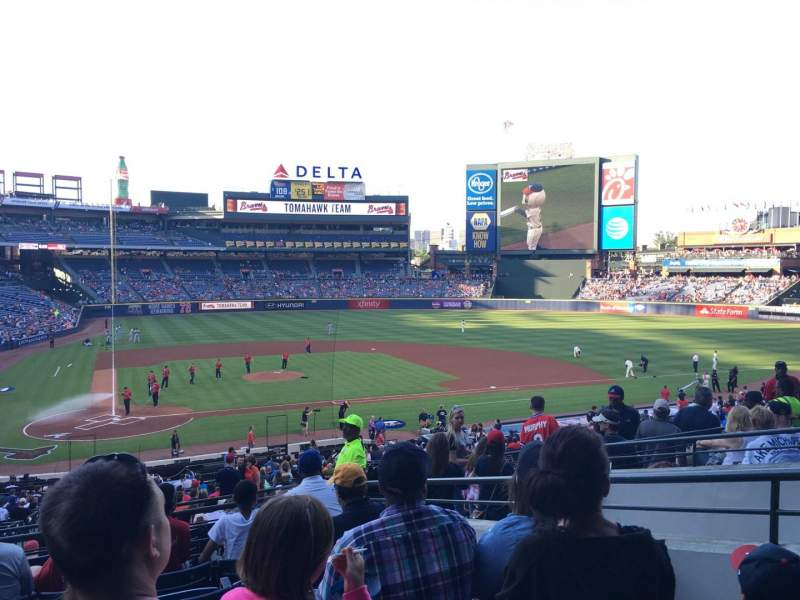 Seating view for Turner Field Section 205R Row 7 Seat 5