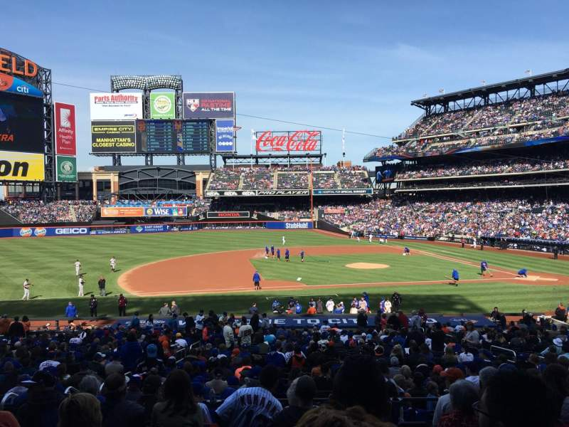Seating view for Citi Field Section 122 Row 29 Seat 12