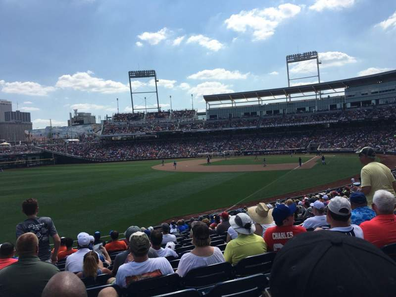 Seating view for TD Ameritrade Park Section 123 Row 23 Seat 18