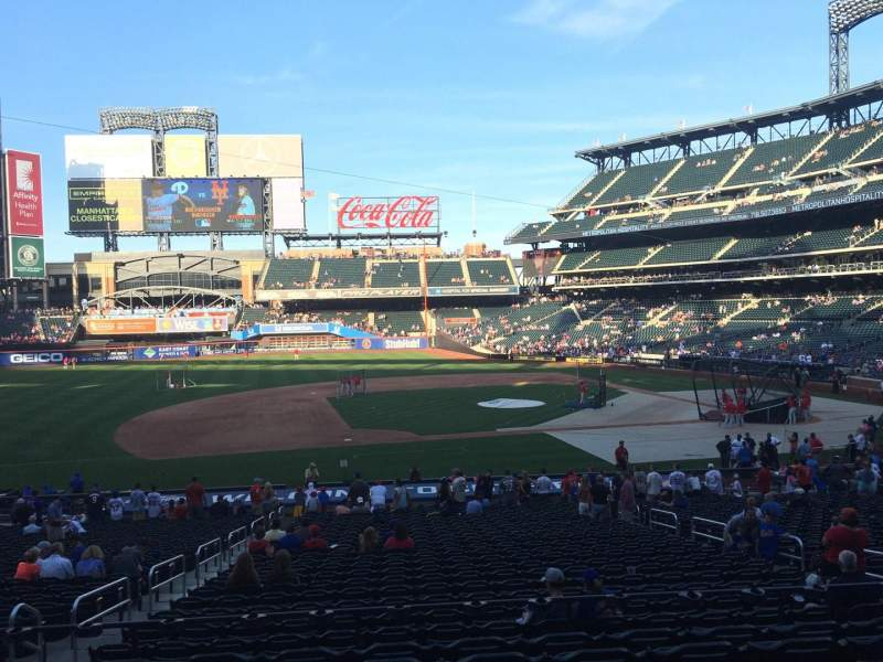 Seating view for Citi Field Section 122 Row 29 Seat 11