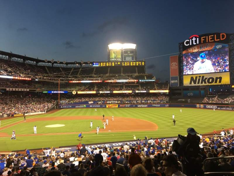 Seating view for Citi Field Section 114 Row 30 Seat 11