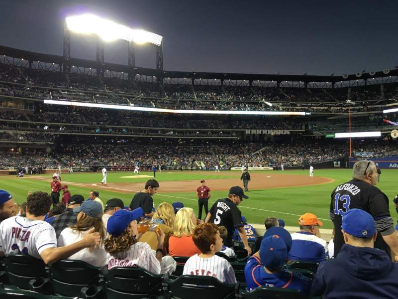 Seating view for Citi Field Section 109 Row 5 Seat 10