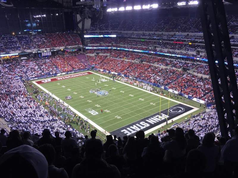 Seating view for Lucas Oil Stadium Section 631 Row 19 Seat 6