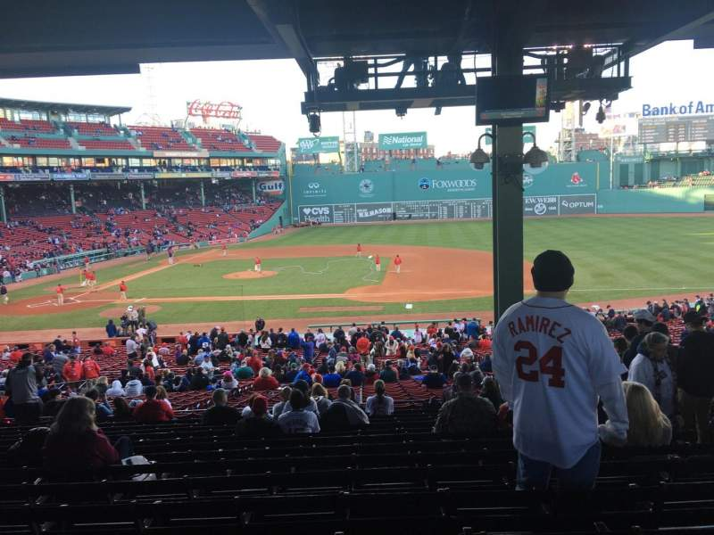 Seating view for Fenway Park Section Grandstand 15 Row 14 Seat 6