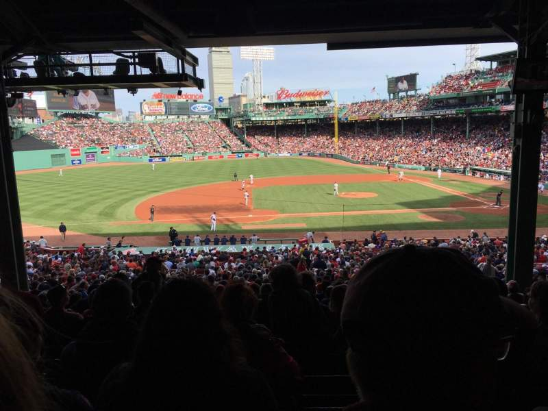 Seating view for Fenway Park Section Grandstand 26 Row 15 Seat 12