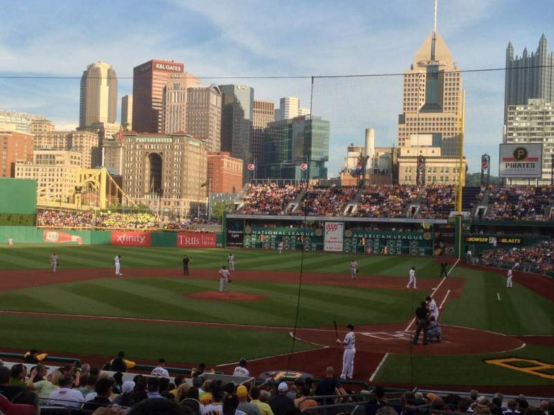 Seating view for PNC Park Section 119 Row L Seat 19