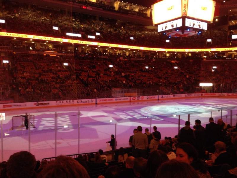 Seating view for Air Canada Centre Section 121 Row 13 Seat 11