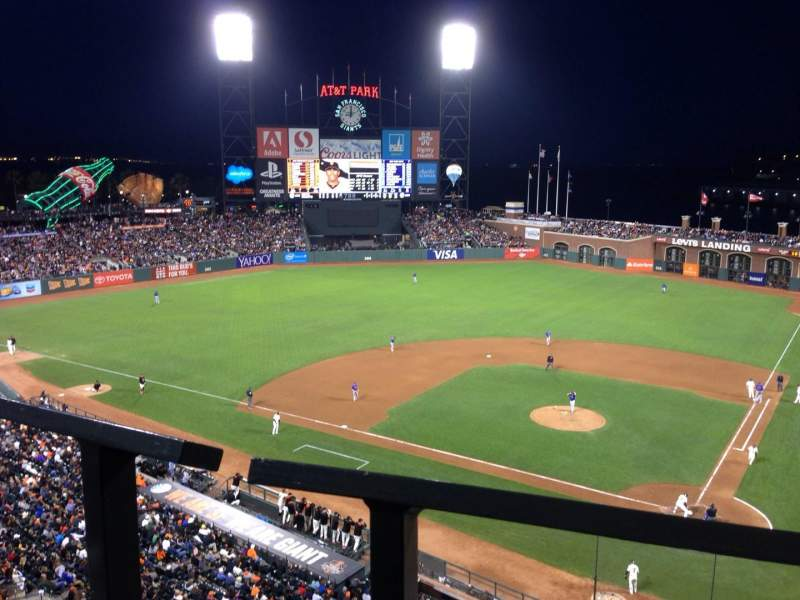 Seating view for AT&T Park Section VB319 Row A Seat 11
