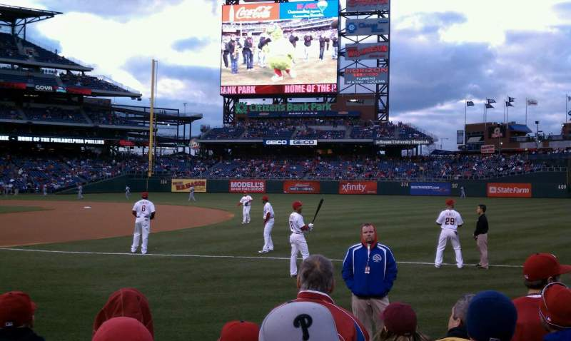 Seating view for Citizens Bank Park Section 115 Row 4 Seat 9