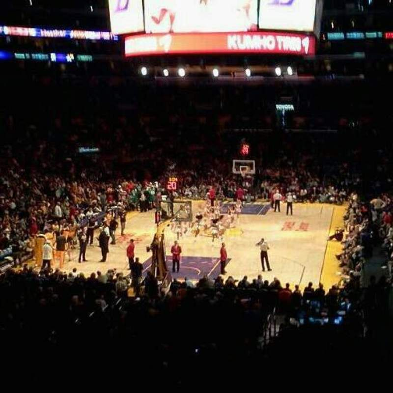 Seating view for Staples Center Section 216  Row 8  Seat 4