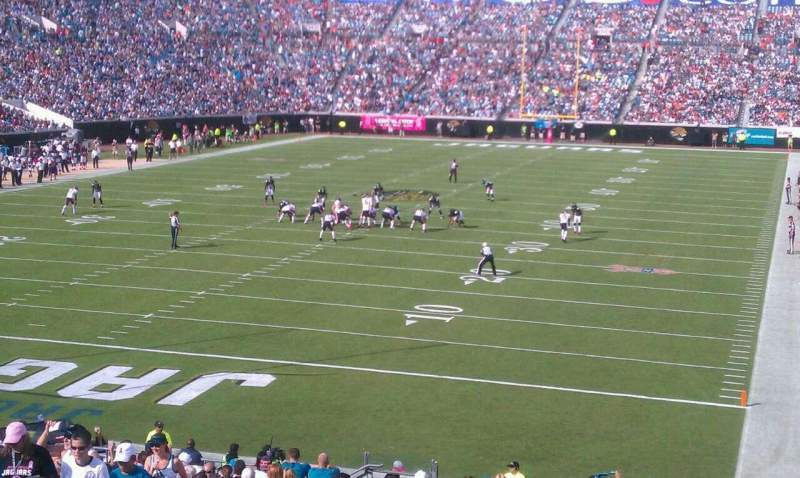 Seating view for Everbank Field Section 146 Row ff Seat 23