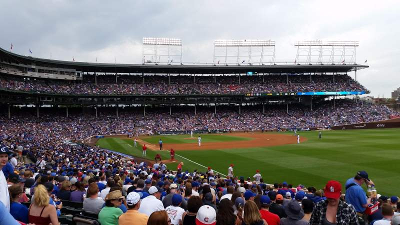 Seating view for Wrigley Field Section 242 Row 2 Seat 121