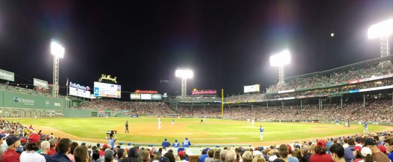 Seating view for Fenway Park Section Loge Box 150 Row AA