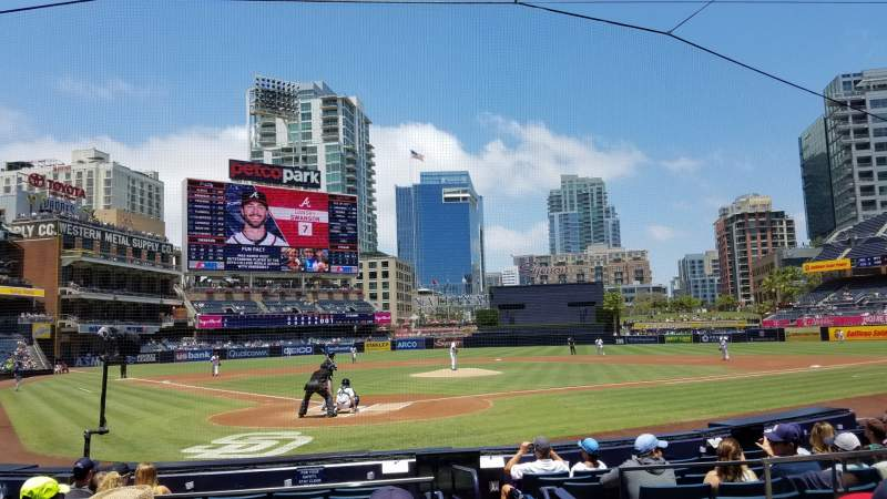 Seating view for Petco Park Section 101 Row 11 Seat 15