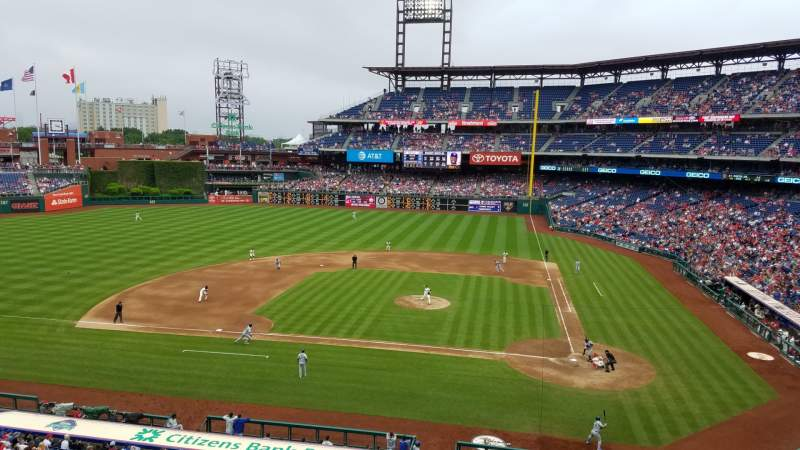 Seating view for Citizens Bank Park Section 227 Row 2 Seat 5