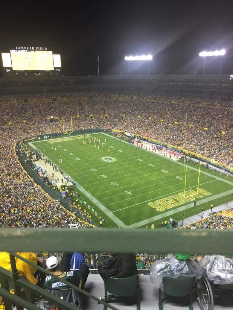 Seating view for Lambeau Field Section 738s Row 8 Seat 8