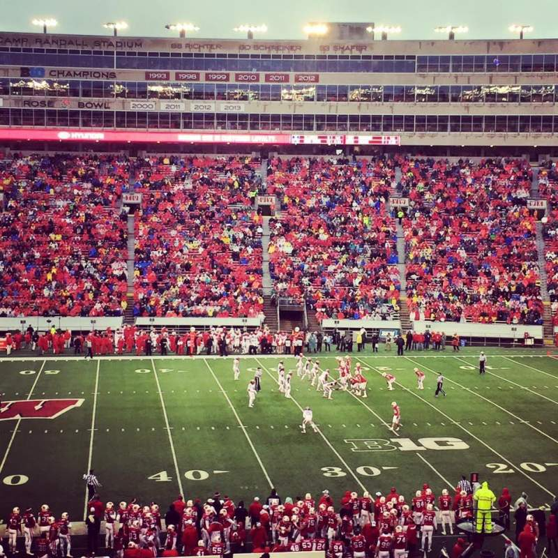 Seating view for Camp Randall Stadium Section E Row 54
