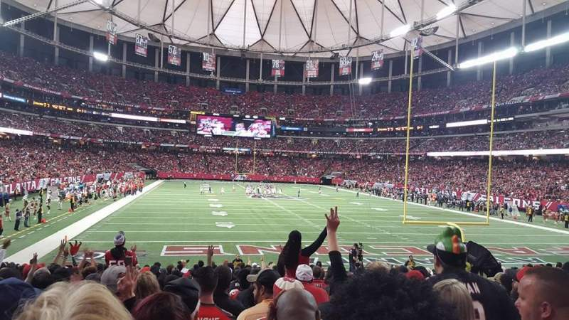 Seating view for Georgia Dome Section 127