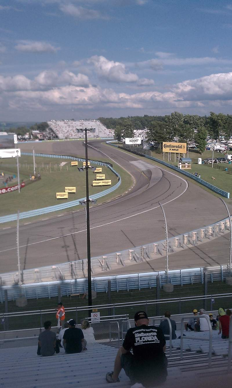Seating view for Watkins Glen International Section Riesbeck Grandstand Row 22 Seat 4