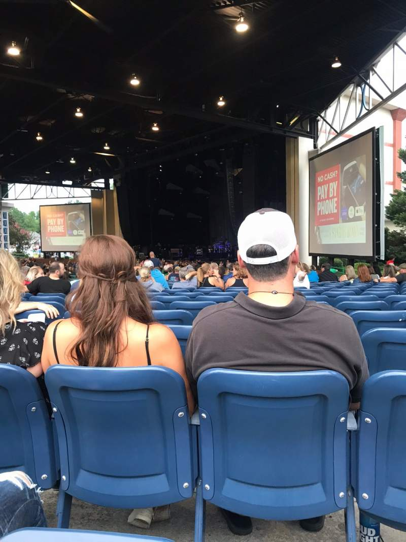 Seating view for Coastal Credit Union Music Park at Walnut Creek Section 4 Row U Seat 16