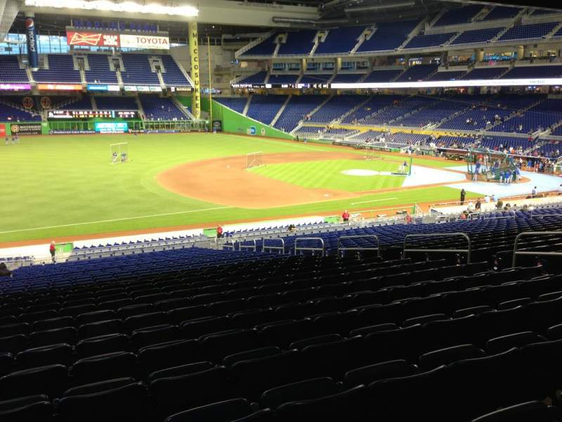 Seating view for Marlins Park Section 23 Row 28 Seat 12