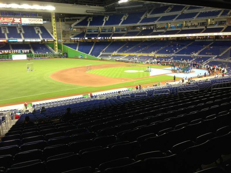 Seating view for Marlins Park Section 23 Row 28 Seat 23