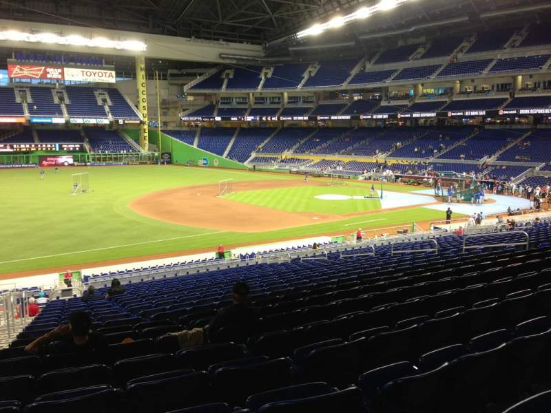 Seating view for Marlins Park Section 23 Row 23 Seat 23