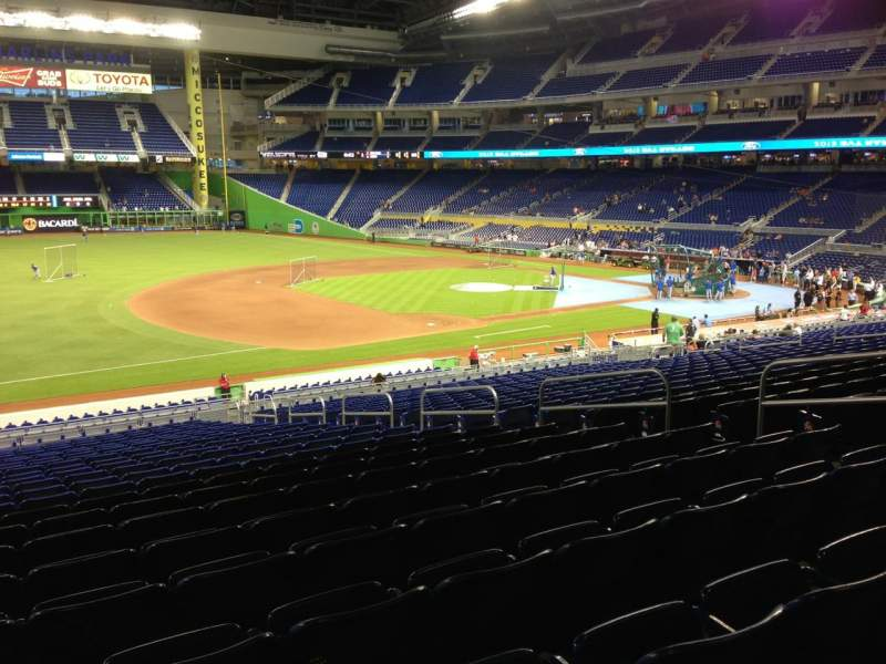 Seating view for Marlins Park Section 23 Row 23 Seat 10
