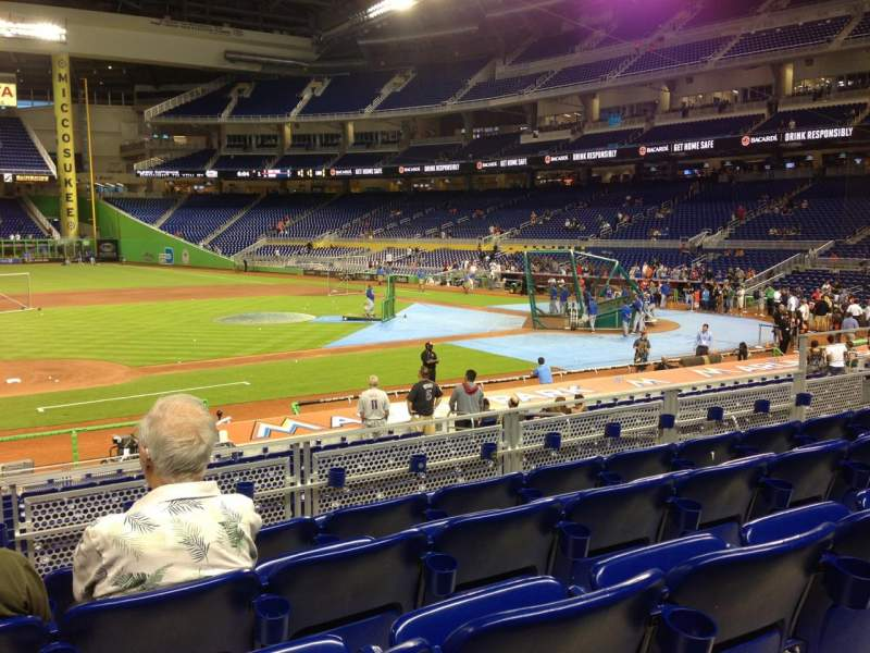 Seating view for Marlins Park Section 21 Row 5 Seat 12