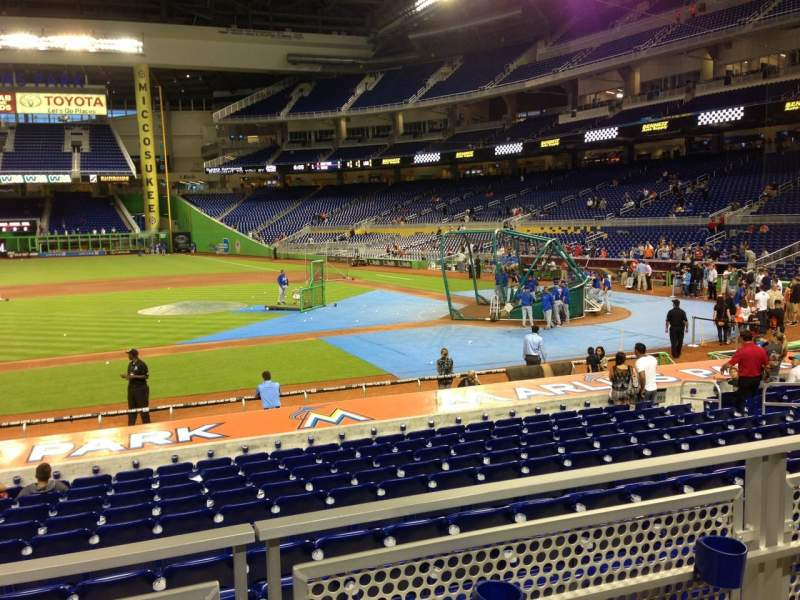 Seating view for Marlins Park Section 20 Row 2 Seat 10