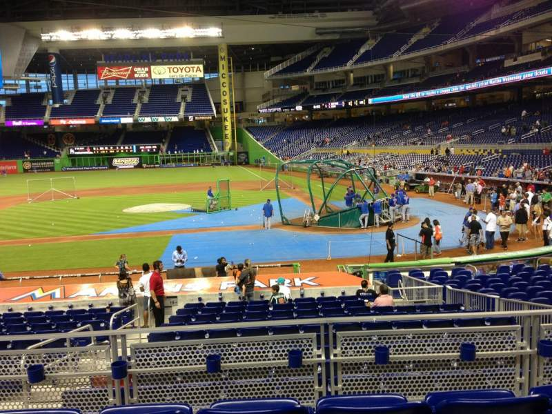 Seating view for Marlins Park Section 19 Row 4 Seat 12