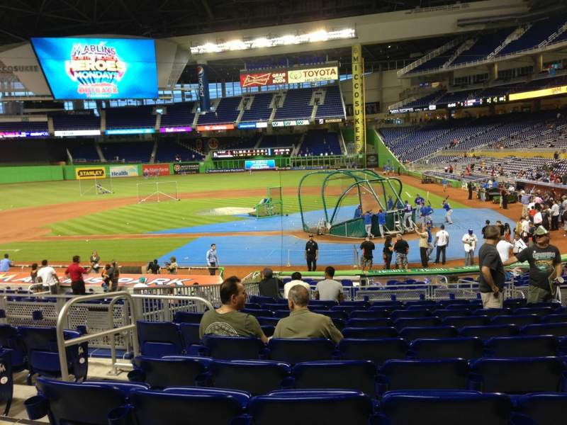 Seating view for Marlins Park Section 18 Row 6 Seat 7