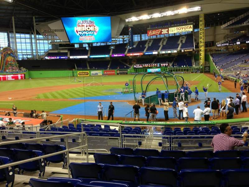 Seating view for Marlins Park Section 17 Row 2 Seat 7