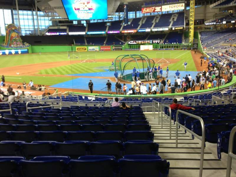 Seating view for Marlins Park Section 17 Row 9 Seat 1