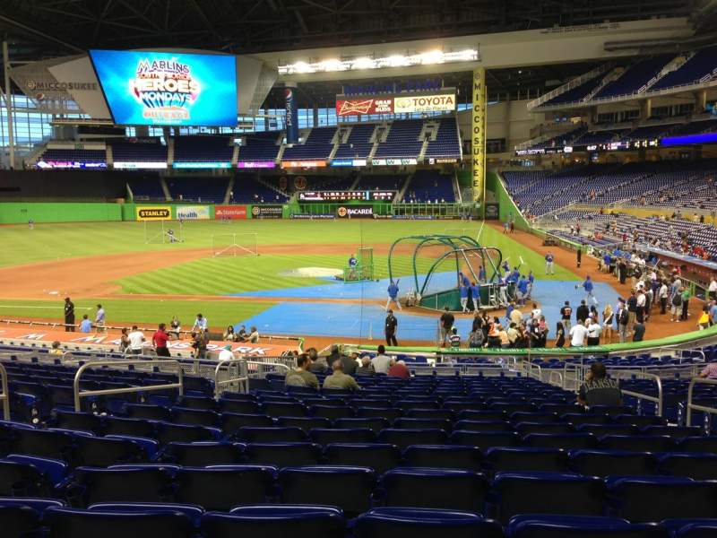 Seating view for Marlins Park Section 18 Row 12 Seat 5