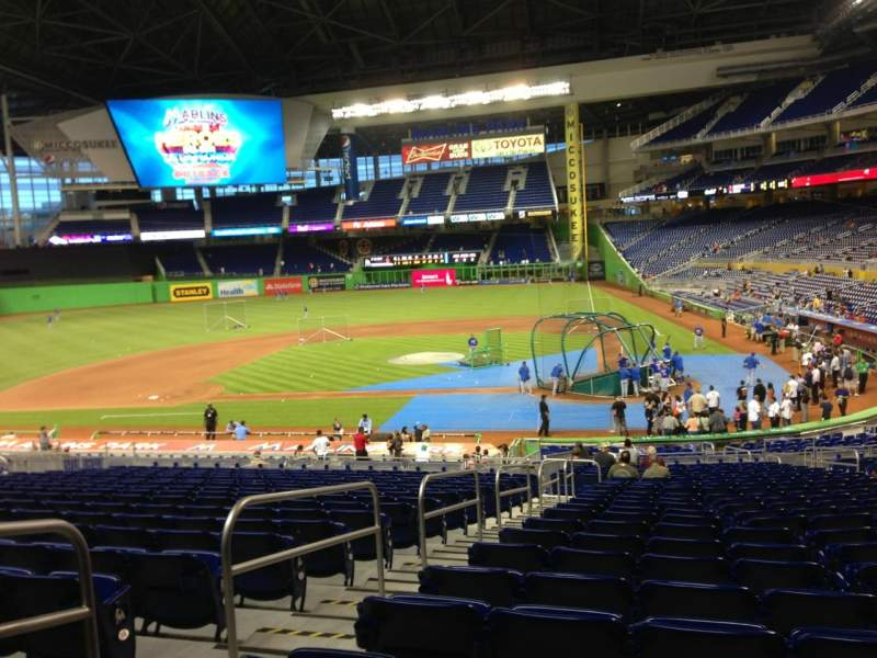 Seating view for Marlins Park Section 18 Row 18 Seat 13