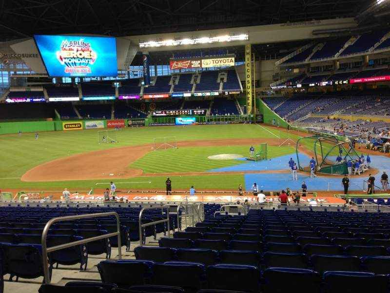 Seating view for Marlins Park Section 19 Row 18 Seat 17