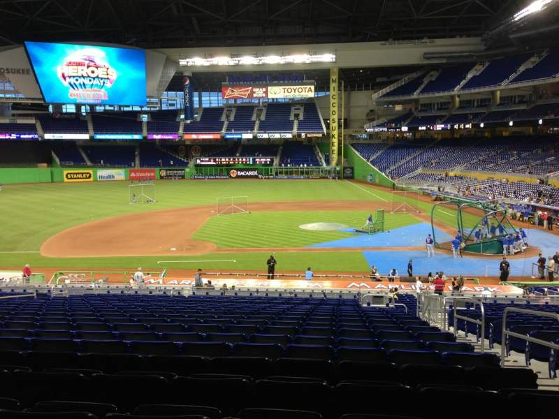 Seating view for Marlins Park Section 20 Row 20 Seat 3