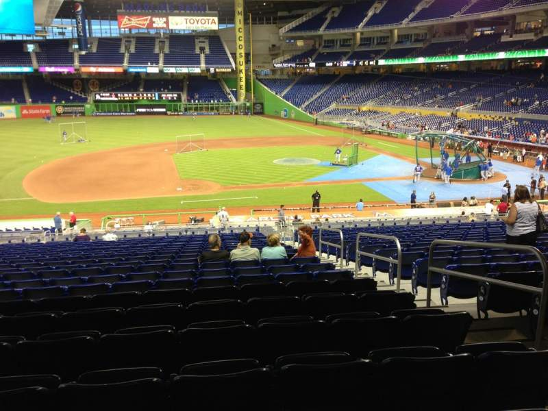 Seating view for Marlins Park Section 21 Row 21 Seat 4