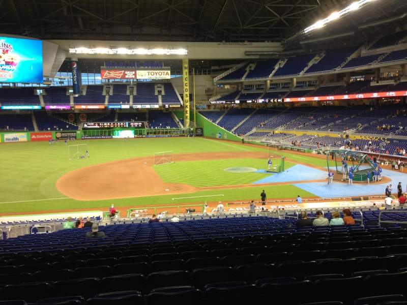 Seating view for Marlins Park Section 21 Row 24 Seat 13