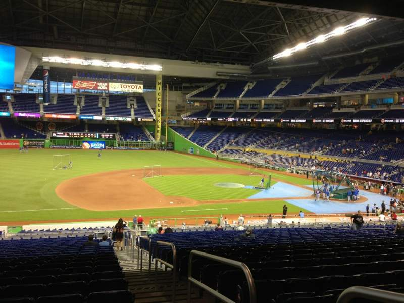 Seating view for Marlins Park Section 22 Row 26 Seat 1
