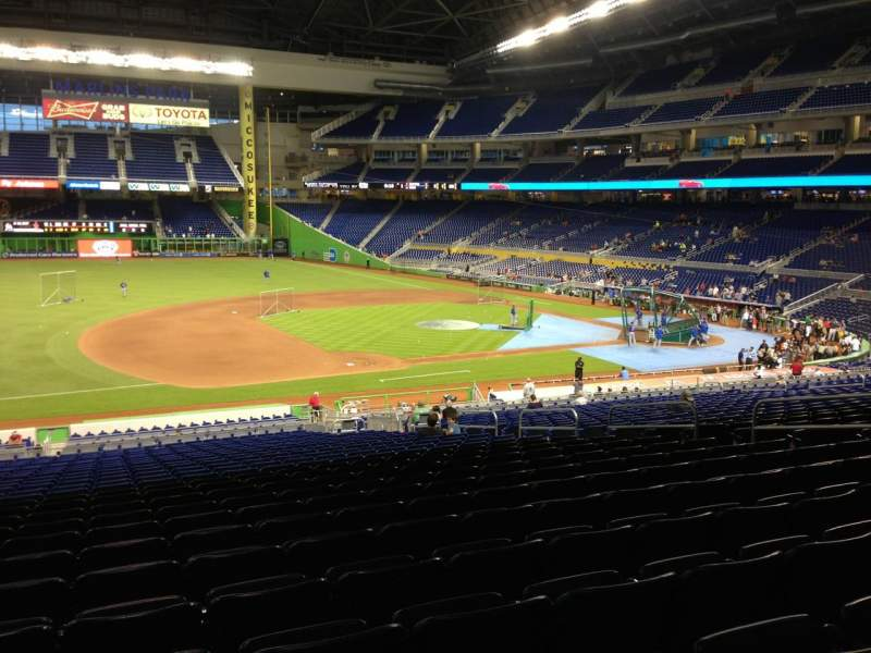 Seating view for Marlins Park Section 22 Row 26 Seat 13