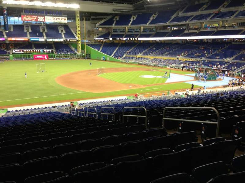 Seating view for Marlins Park Section 23 Row 27 Seat 6