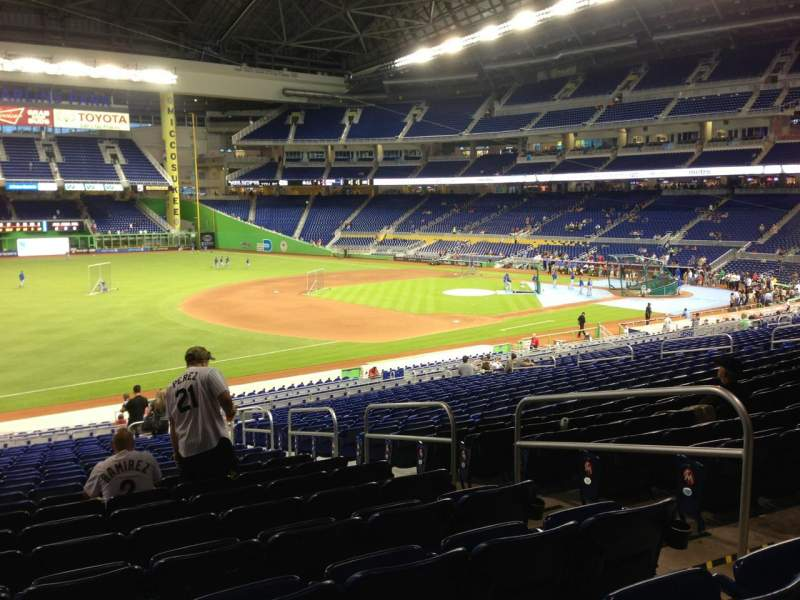 Seating view for Marlins Park Section 24 Row 23 Seat 5