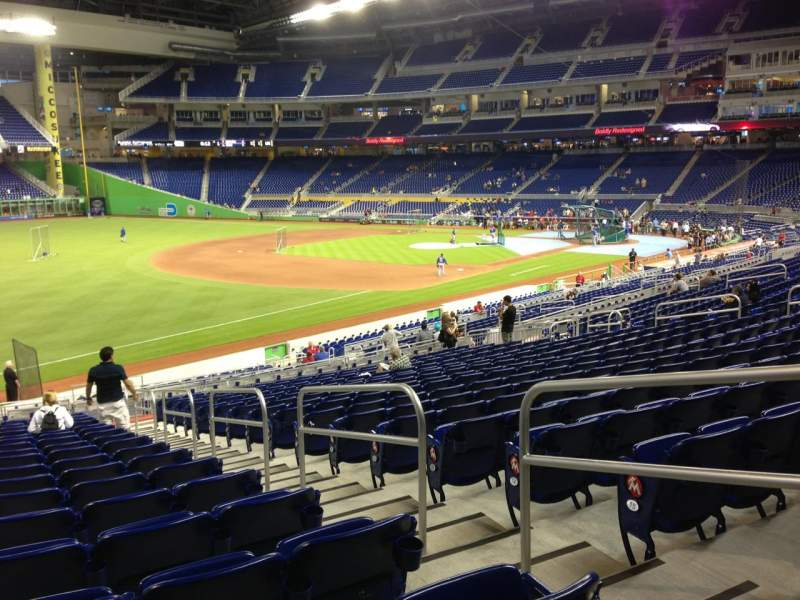 Seating view for Marlins Park Section 25 Row 18 Seat 3